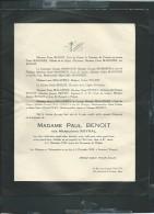 Smarves ( L'ile Verte )  5 /12/1949 -  F.P. Décés De Mme Paul Benoit Née Marguerite Raynal   -  Aw13702 - Décès