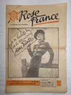"""Le Journal De La Française """"ROSE FRANCE"""" De 1942 - N°58 - Vieux Papiers/Journal/Revue - Clermont-Ferrand - Periódicos"""
