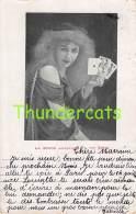 CPA JEU DE CARTES FEMME VOYANTE STROM FORTUNE TELLER LADY PLAYING CARDS - Cartes à Jouer