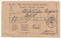 Hungary - Croatia, Postal Receipt Postai Föladó-vevény Poštanska Predatnica Travelled 1901 Kutjevo Pmk B180301 - Lettere