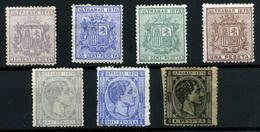 2152- Cuba Nº 31/5 Y 37/8 - Cuba (1874-1898)