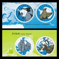 North Korea 2013 Mih. 6007/08 Fauna. Arctic And Antarctic Animals. Penguin. Reindeer (with Labels) MNH ** - Korea, North