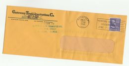 1952 USA Illus ADVERT COVER Gateway TRANSPORTATION  TRUCK Pic ROCKFORD CENTENNIAL SLOGAN Pmk Stamps - Trucks