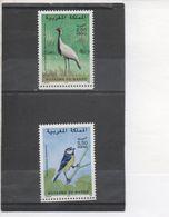 MAROC - Faune - Oiseaux : Demoiselle De Namibie (Anthranpoïdes Virgo), Mésange Bleue (Parus Caeruleus Ultramarinus) - Marruecos (1956-...)