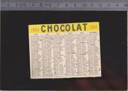 Calendrier - Petit Format - 1954 - Chocolat - Calendriers
