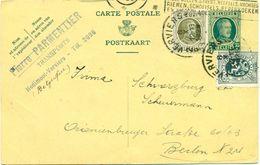 Carte Postale De Pierre Parmentier Transports à Hodimont - Verviers : 1929 - Transport