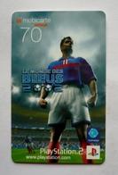 Mobicarte Recharge Collector- Le Monde Des Bleus 2002 -  Football  - 500 000 Ex. - Sport