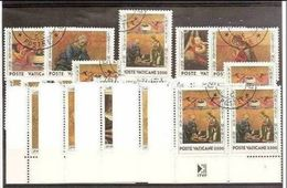1990 Vaticano Vatican NATALE  CHRISTMAS 5 Serie Di 5v. Usate USED - Natale