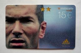 Mobicarte Recharge Collector - ZINEDINE ZIDANE  -  Football  - 350 000 Ex.  ADIDAS - Sport