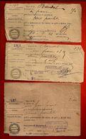 3 Reçu Droit D'Octroi Sur Poulet - Octroi De Bourges Bureaux De Pignoux & Saint Prive 1926 & 1927 - 1900 – 1949