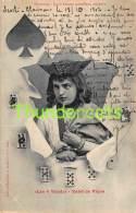 CPA HOROSCOPE JEU DE CARTES LES 4 VALETS VALET DE PIQUE BERGERET PLAYING CARDS ( PLI - CREASE ) - Cartes à Jouer