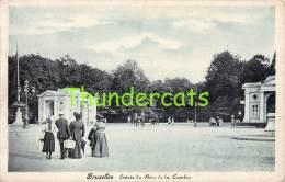 CPA BRUXELLES ENTREE DU BOIS DE LA CAMBRE - Forêts, Parcs, Jardins