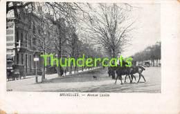 CPA BRUXELLES  AVENUE LOUISE - Avenues, Boulevards
