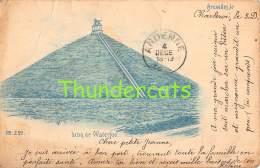 CPA WATERLOO  1899 BRUXELLES  LION DE WATERLOO  ( PLI - PLOOI ) - Waterloo