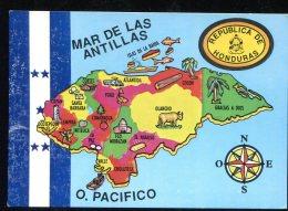 CPM Non écrite Républica De HONDURAS + Carte - Honduras