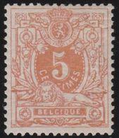 Belgie   .    OBP      .     28           .   *        .      Ongebruikt Met  Plakker  .    /   .    Neuf Avec Charniere - 1869-1883 Leopold II.