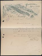 """Belgique - Lettre PUB """"Filature De Laine Cardée - Petit & Pirnay"""" , Ensival(Verviers) 1902 - Advertising"""
