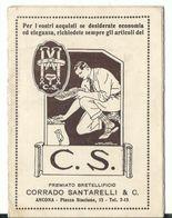 Calendiaretto Ripiegabile 1928 - Pubblicitario Premiato Bretellifricio - Corrado Santarelli - Ancona - Ancona