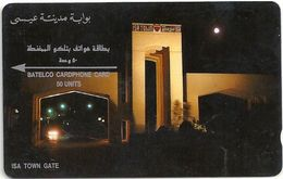 Bahrain - Isa Town Gate - 1988 - 2BAHF - Shallow Notch / Serial Down Middle, 17.500ex, Used - Bahrain