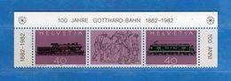 (Riz)Svizzera ** - 1982 - FERROVIA Del SAN GOTTARDO. MNH Vedi Descrizione - Switzerland