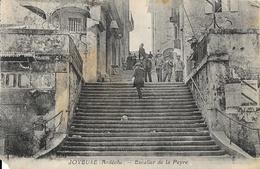 Joyeuse (Ardèche) - Escalier De La Peyre - Photo Brunel, Carte Non Circulée - Joyeuse