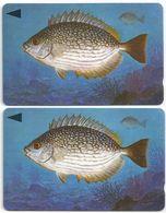 Bahrain - Streaked Rabbitfish Fish Of Bahrain - 2 Variations 40BAHG (O-Ø), 1996, Used - Bahrain