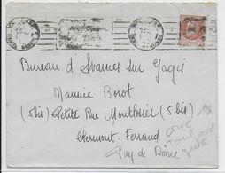 """1942 - TOULOUSE - MECA PROPAGANDE """"TU DOIS ACHETER UN BON D'ARMEMENT"""" RAYE BARRES NOIRES Sur ENVELOPPE - COTE = 50 EURO - Marcophilie (Lettres)"""