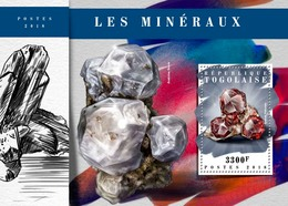 TOGO 2018 - Minerals S/S. Official Issue. - Minerali