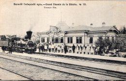 """V12103 Cpa Russie - Grand Chemin De La Sibérie """" Train"""" - Russie"""