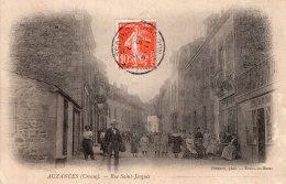 V12122 Cpa 23 Auzances - Rue Saint Jacques - Auzances