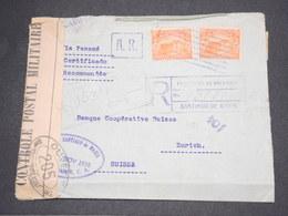 SALVADOR - Enveloppe En Recommandé De Santiago De Mariai Pour La Suisse En 1918 Avec Contrôle Postal - L 14475 - Salvador
