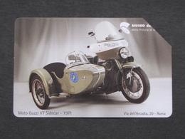ITALIA F4050 C&C 526 GOLDEN EURO - MUSEO DELLA POLIZIA GUZZI V7 SIDECAR 1971 - USATA - Public Advertising