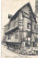 ROUEN. VIEILLE MAISON RUE SAINT-ROMAIN . AFFR LE 12 VIII 1929 AU VERSO - 2 SCANES - Rouen