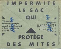 Old Envelope With Publicité: Impermite Le Sac Qui Protège Des Mites : Vetementsz : Verso Loterie Coloniale Aveugle - Entiers Postaux