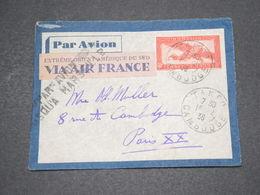 INDOCHINE - Entier Postal De Takeo Pour Paris En 1936 Par Avion Via Marseille - L 14484 - Cartas