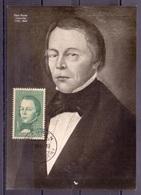 Liechtenstein 1964: Zu 383 Mi 448 Yv 393 Peter Kaiser (1793-1864) Historiker Auf MK Mit ET-o MAUREN 9.XII.64 - Altri