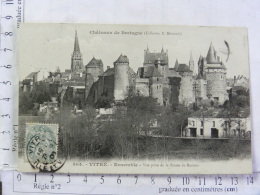 CPA (35) Ille Et Vilaine - Château De Bretagne - VITRE - Ensemble - Vue Prise De La Route De Rennes - Vitre
