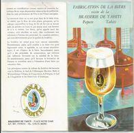 DOCUMENT BRASSERIE TAHITI FABRICATION BIERE HINANO - Pubblicitari