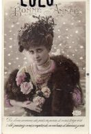 Femmes N° 326 : Fourrure Roses , Bonne Année  ; édit. B C I  N° 613 - Femmes