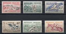 RC 7389 FRANCE N° 960 / 965 - JEUX OLYMPIQUES D'HELSINKI 1953 COTE 90€ NEUF ** TB - Sommer 1952: Helsinki