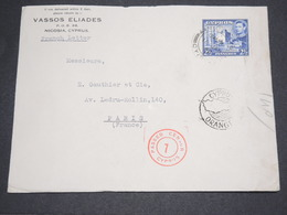 CHYPRE - Enveloppe Commerciale Pour La France En 1940 Avec Contrôle Postal - L 14492 - Chypre (République)