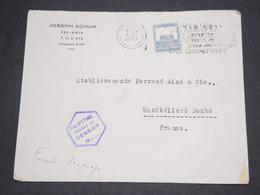 PALESTINE - Enveloppe Commerciale De Tel Aviv Pour La France En 1939 Avec Contrôle Postal - L 14493 - Palestine
