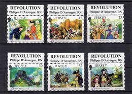 JERSEY / Révolution Française Superbe Série 6 Valeurs Dentelées MNH Vente 3.00 Euros - Révolution Française