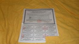 RECEPISSEE DE LA DETTE PUBLIQUE REPARTIE DE L'ANCIEN EMPIRE OTTOMAN. / RESTE 11 COUPONS. - Actions & Titres