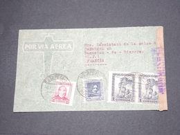 ESPAGNE - Enveloppe  Pour La France En 1938 Avec Censure - L 14495 - Marcas De Censura Nacional