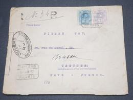 ESPAGNE - Enveloppe En Recommandé De Palamos Pour La France En 1917 Avec Contrôle Postal - L 14496 - 1889-1931 Royaume: Alphonse XIII