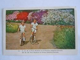Belgique Prince Baudouin Et Princesse Joséphine-Charlotte Fiets Vélo Souvenir De La Reine Astrid Circulée Obourg 1937 - Koninklijke Families