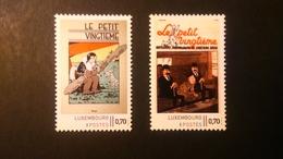 """Tintin: Timbres Personnalisé Luxembourg """" Le Petit Vingtième 1 & 2"""" - Luxembourg"""