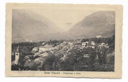 SAINT VINCENT - PANORAMA E VALLE  1913  VIAGGIATA FP - Italia