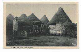 COLONIA ERITREA - UN VILLAGGIO 1936 VIAGGIATA FP - Erythrée